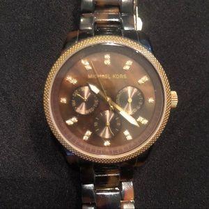 Michael Kors Tortoise Watch - just needs Battery.